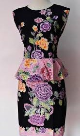 DRESS BATIK ENCIM KATE MIDDLETON 20