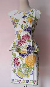 DRESS BATIK ENCIM KATE MIDDLETON 18