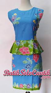 DRESS BATIK MOTIF ENCIM KATE MIDDLETON 09