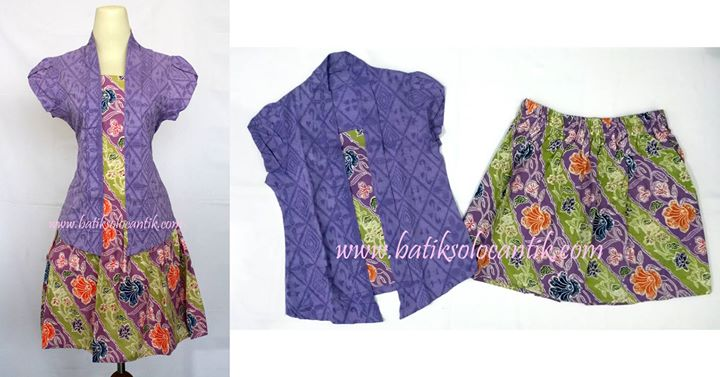 DRESS BATIK SOLO SET KUTUBARU UNGU