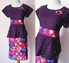 MODEL DRESS BATIK SOLO CANTIK PEPLUM CHATTY 10