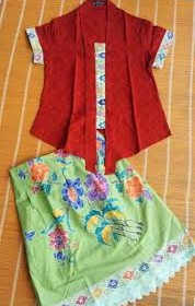 DRESS BATIK SOLO SET KUTUBARU MERAH