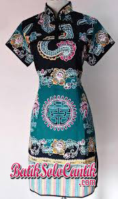 DRESS BATIK CHEONGSAM MOTIF LIONG