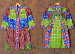 BAJU KERJA MODEL DRESS BATIK SOLO TULIS DIAJENG A07