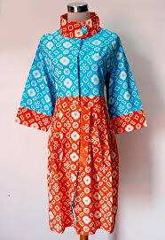 BAJU MUSLIM MODEL DRESS BATIK SOLO ESTELLE 03