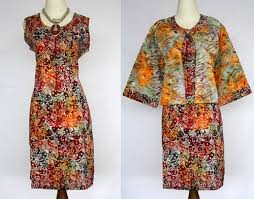 DRESS BATIK SOLO MODERN SHEILA 01