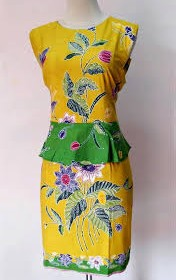 BATIK DRESS KATE MIDDLETON KUNING