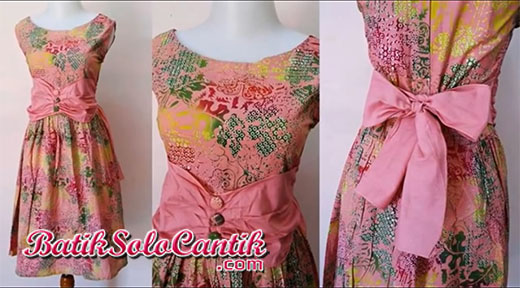 DRESS MODEL BAJU PESTA BATIK AIRIN 03