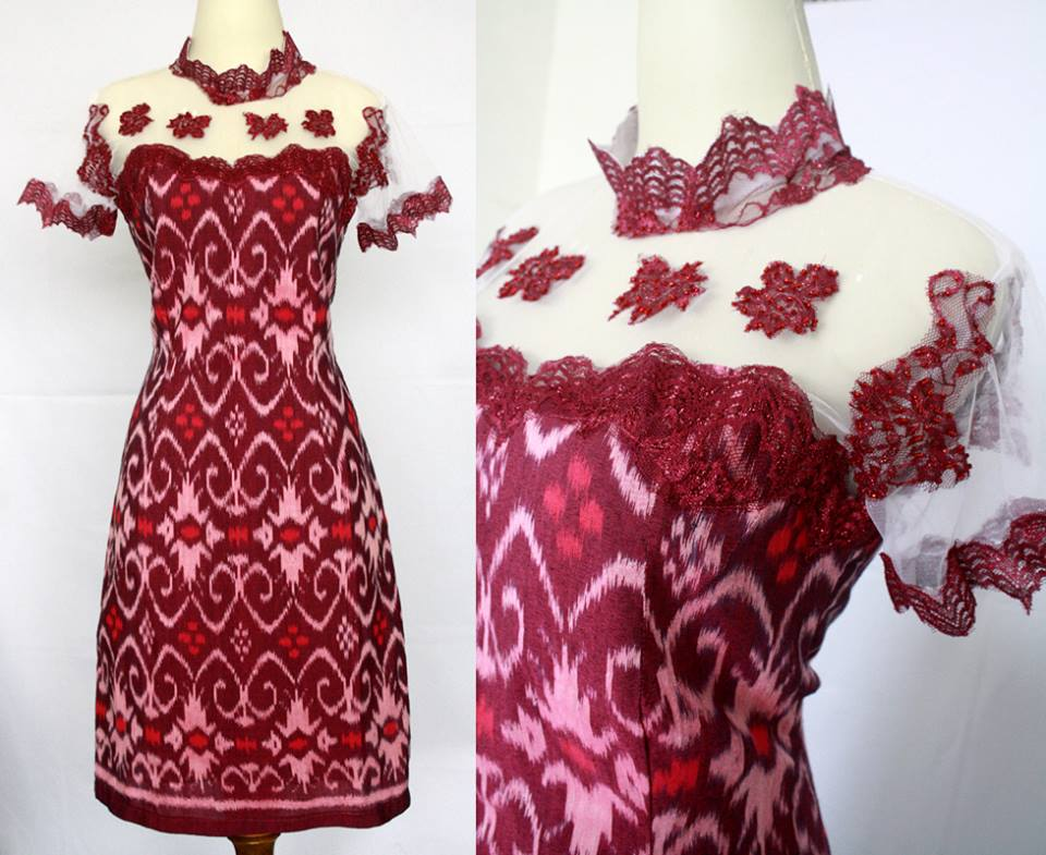 Dress Batik Modern Kombinasi Elegan