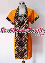 BATIK TULIS MODERN DRESS KEMUNING SOGAN 07