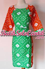 DRESS BATIK JUMPUTAN SOLO LENGAN PANJANG