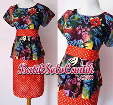 DRESS BATIK SOLO PEPLUM CHATTY 03