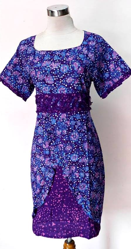 BAJU BATIK CANTIK MODEL DRESS SISTER B04