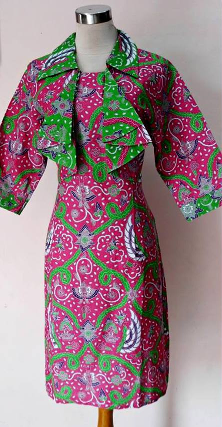 BAJU KERJA BATIK MODEL DRESS BOLERO ZIE ZIE PINK