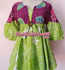 MODEL BAJU KERJA BATIK BLOUSE CHERRY