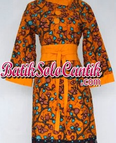 DRESS BATIK SOLO SAKURA KUNING