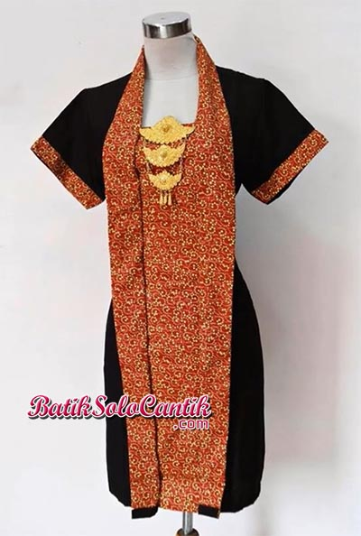 SACKDRESS BATIK KEMUNING SOGAN