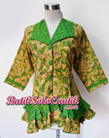 BLOUSE BATIK MODEL PEPLUM ALIKA 05 MODEL BAJU KERJA
