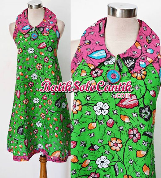 DRESS BATIK SOLO MOTIF BAKARAN