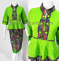 MODEL BAJU DRESS BATIK RESMI