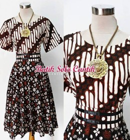 DRESS BATIK SOGAN TULIS