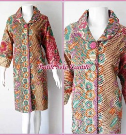 DRESS BATIK SOLO MODEL CACAH IRIS