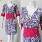 BAJU BATIK WANITA MODEL DRESS