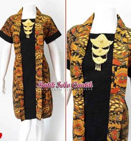 DRESS BATIK SOGAN KEMUNING