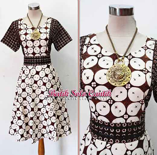 DRESS BATIK TULIS SOGAN