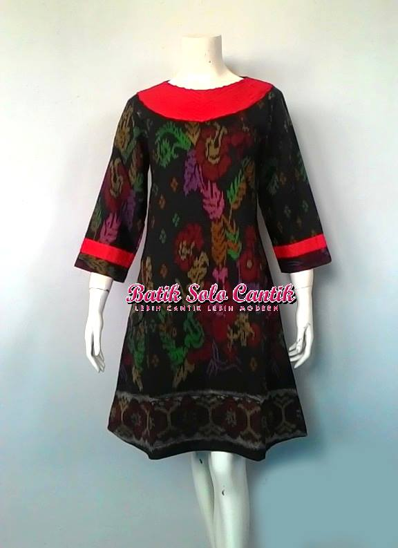 DRESS TENUN KOMBINASI SESET