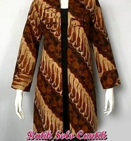 LONG CARDIGAN MODEL BATIK SOLO