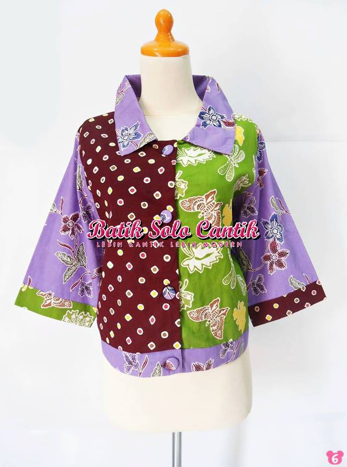 BAJU BATIK SOLO MODERN MODEL COAT